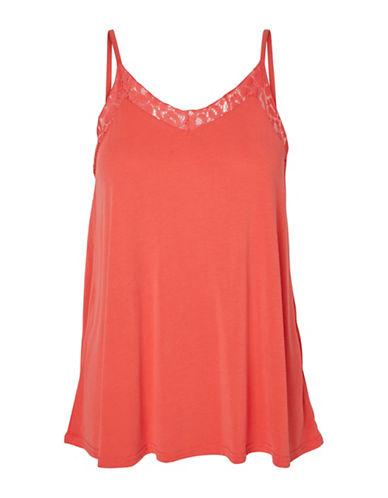 Vero Moda Vmmetti Lace Trim Camisole Top-PINK-Small 89174568_PINK_Small