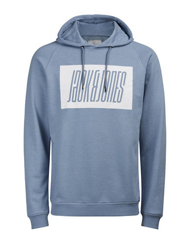 Jack & Jones Fleece Hoodie-BLUE-X-Large 89284452_BLUE_X-Large