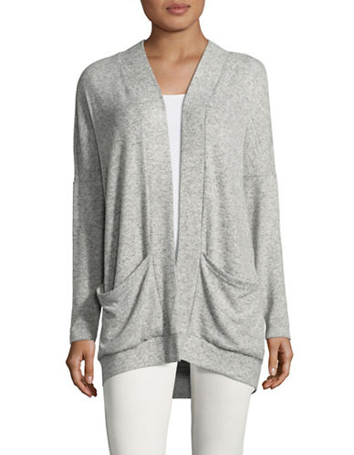 Only onlMAYE Long Knit Cardigan-LIGHT GREY-Large