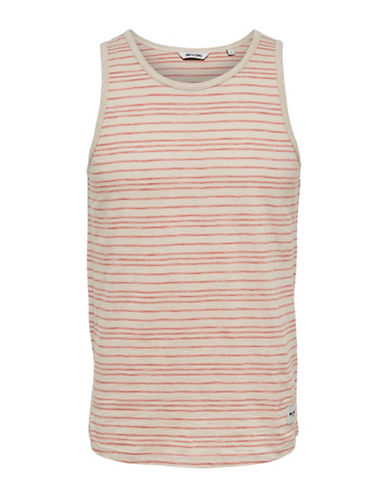 Only And Sons Pinstriped Tank Top-ORANGE-X-Large