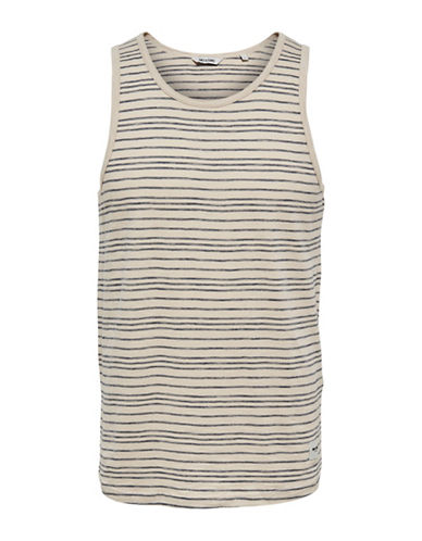Only And Sons Pinstriped Tank Top-BLUE-Medium 89227064_BLUE_Medium