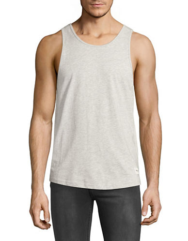 Only And Sons Heathered Round Neck Tank-GREY-X-Large 89135769_GREY_X-Large