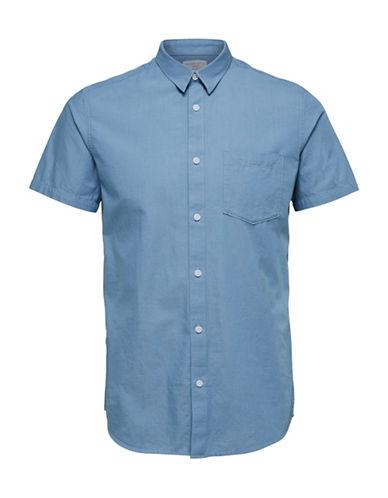 Selected Homme SHDONECLIVE Short-Sleeve Shirt-LIGHT BLUE-XX-Large