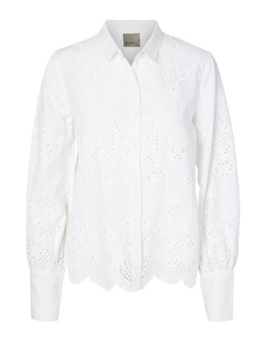 Vero Moda Lux Long Sleeve Shirt-WHITE-Medium