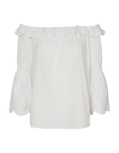 Vero Moda Lux Off-the-Shoulder Top-WHITE-Small