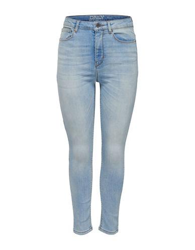 Only onlPosh Cropped High-Waist Jeans-LIGHT BLUE-29