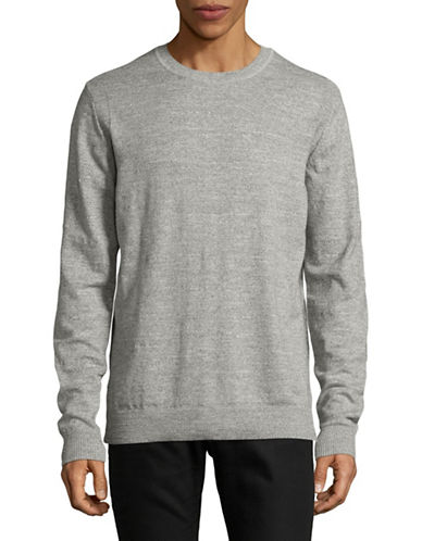 Jack And Jones Premium Jprpietro Knit Crew Neck Sweater-LIGHT GREY-Medium