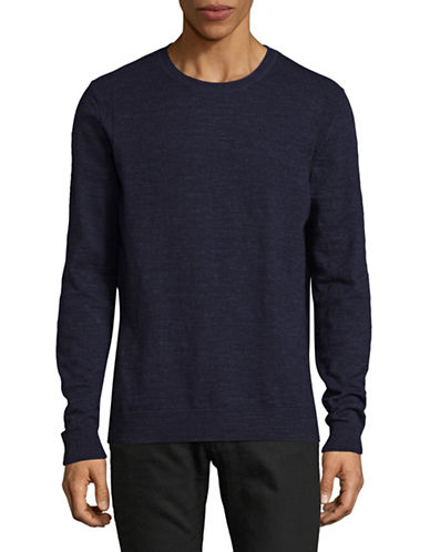 Jack And Jones Premium Jprpietro Knit Crew Neck Sweater-MARINE BLUE-Small