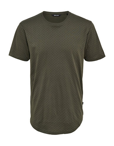 Only And Sons Mini All-Over Print Tee-GREEN-Medium