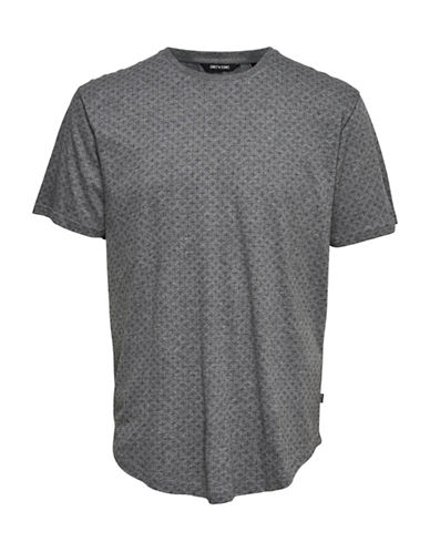 Only And Sons Mini All-Over Print Tee-GREY-Small
