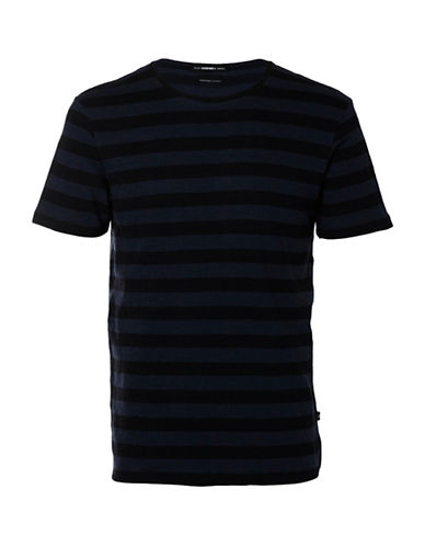 Selected Homme Shxjameson Striped T-Shirt-BLUE-X-Large