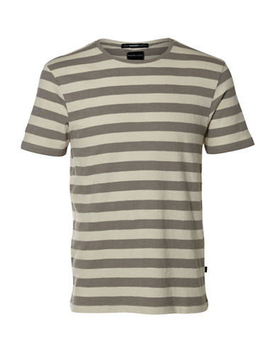 Selected Homme Shxjameson Striped T-Shirt-GREY-XX-Large 88994869_GREY_XX-Large