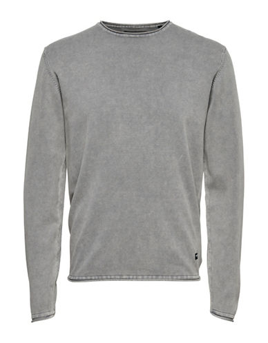 Only And Sons Garson Knit Pullover-GREY-Large
