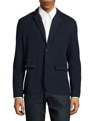 Jack And Jones Premium Sweater Blazer-DARK NAVY-X-Large