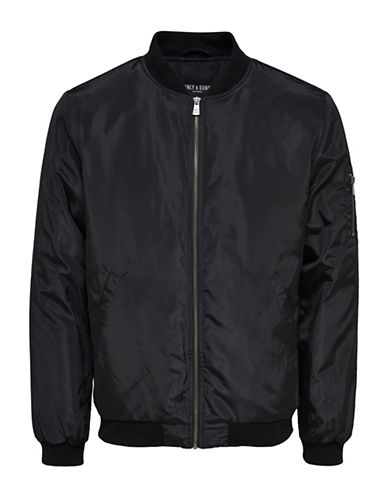 Only And Sons Camp Bomber Jacket-BLACK-X-Large