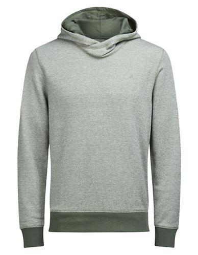 Jack & Jones Jorcrooner Heathered Sweat Hoodie-GREEN-Large
