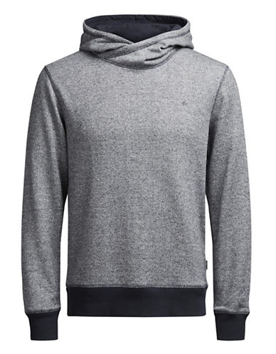 Jack & Jones Jorcrooner Heathered Sweat Hoodie-BLUE-XX-Large