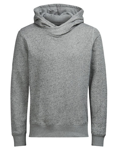 Jack & Jones Jorcrooner Heathered Sweat Hoodie-GREY-XX-Large