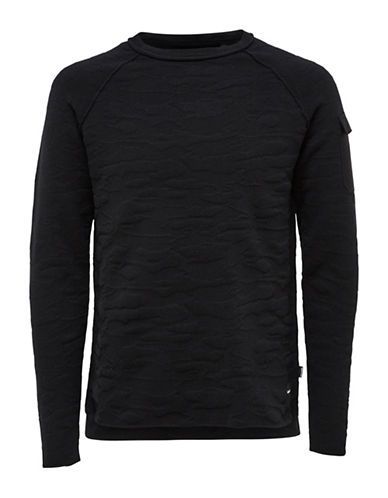 Only And Sons Raw Edges Top-BLACK-Small
