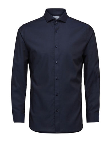 Selected Homme Slim Fit Sport Shirt-BLUE-Large