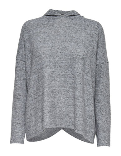 Only Hooded Pullover-LIGHT GREY-Small