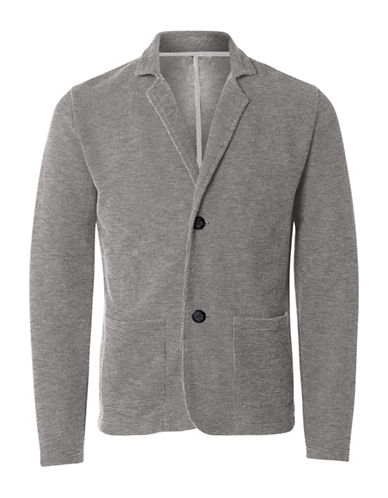 Selected Homme Cotton Blazer-GREY-X-Large