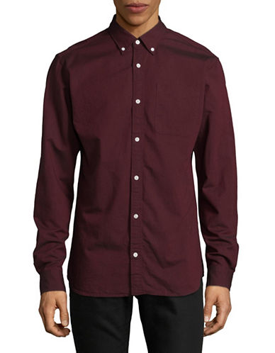 Jack And Jones Premium Slim Fit Jprclassic Long Sleeve Shirt-RED-Medium