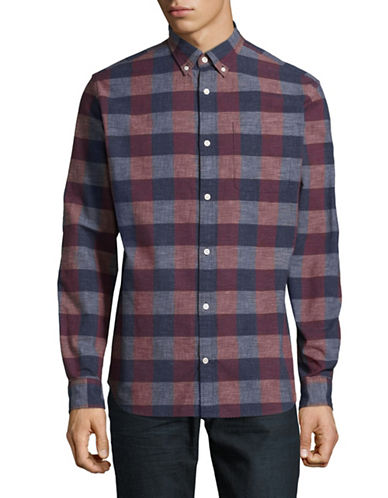 Jack And Jones Premium JprNelson Plaid Long Sleeve Shirt-PURPLE-Large