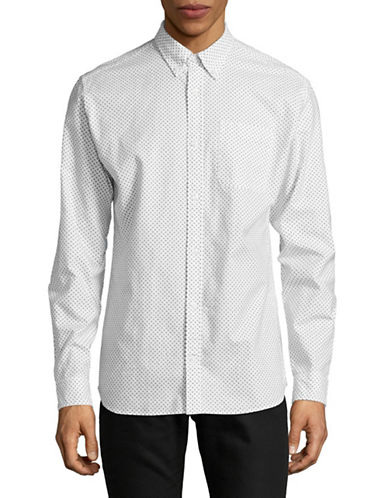 Jack And Jones Premium Clean Speckle Print Sport Shirt-WHITE-Small