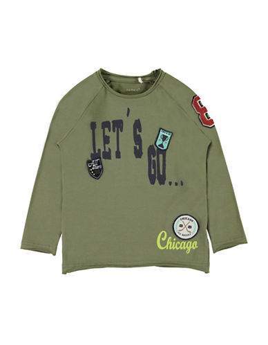 Name It Long Sleeve Patch Top-GREEN-2