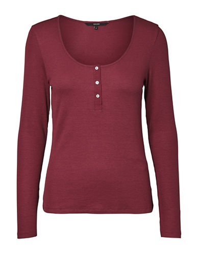 Vero Moda Gaby Gaia Knitted Long-Sleeve Top-PURPLE-Large