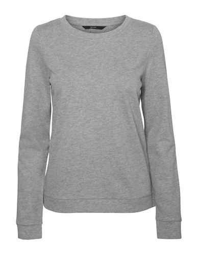 Vero Moda Sweda Crew Neck Sweatshirt-GREY-Medium
