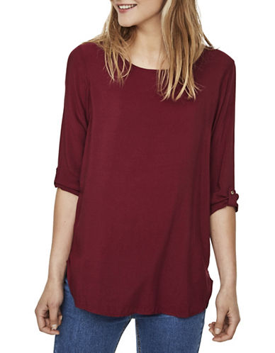 Vero Moda Boca Round Neck T-Shirt-PURPLE-Small