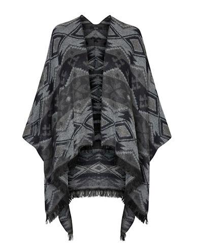 Vero Moda Open Front Poncho-BLACK-One Size
