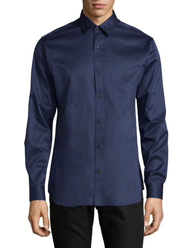 Selected Homme Classic Dress Shirt-DARK BLUE-Medium
