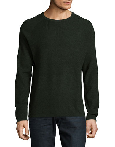 Selected Homme Marled Crew Neck Sweater-GREY-XX-Large