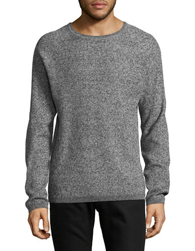 Selected Homme Marled Crew Neck Sweater-GREY-Medium