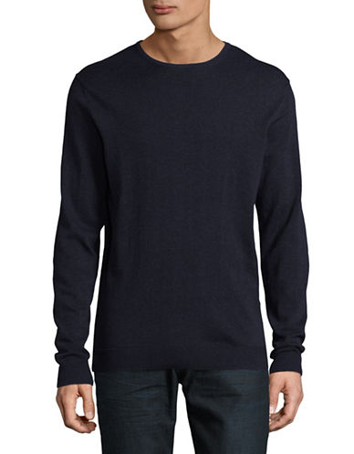 Selected Homme Cotton-Silk Sweater-BLUE-X-Large