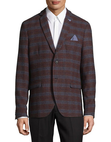 Selected Homme Check Sports Jacket-BROWN-38 Regular