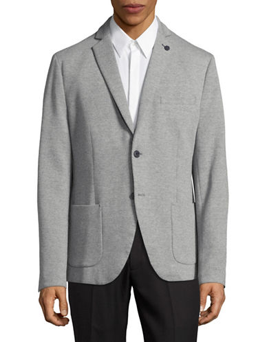 Selected Homme Deconstructed Knit Sportcoat-LIGHT GREY-36 Regular