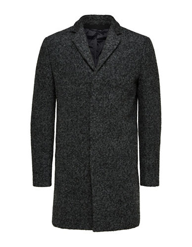 Selected Homme Brove Notch Coat-GREY-X-Large