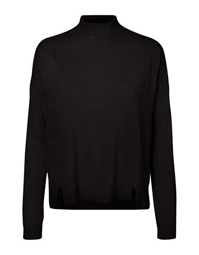 Noisy May Chen High Neck Pullover-BLACK-Small 89624560_BLACK_Small
