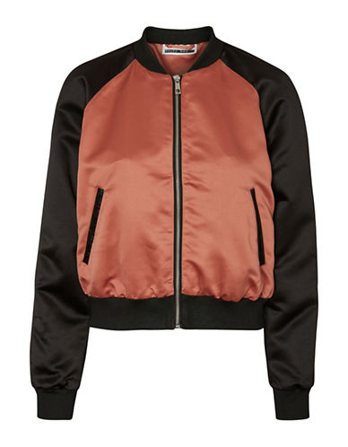 Noisy May Short Bomber Jacket-CEDAR WOOD-Large
