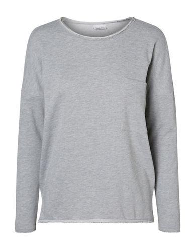 Noisy May Christian O-Neck Sweater-LIGHT GREY-X-Small