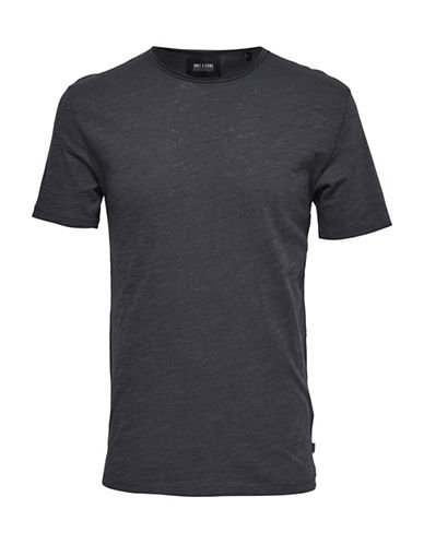 Only And Sons Short Sleeve Tee-GREY-Large