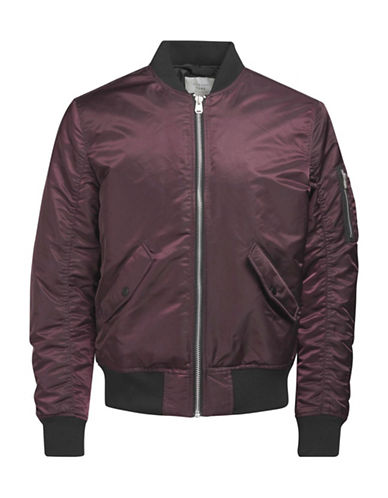Jack & Jones Knit Bomber Jacket-BURGUNDY-Medium
