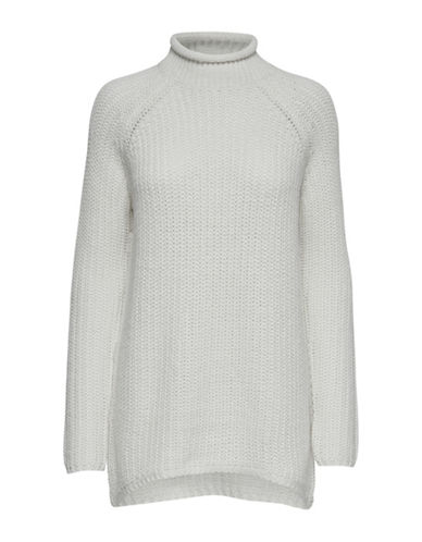 Only Longline High Neck Pullover-CLOUD DANCER-Small