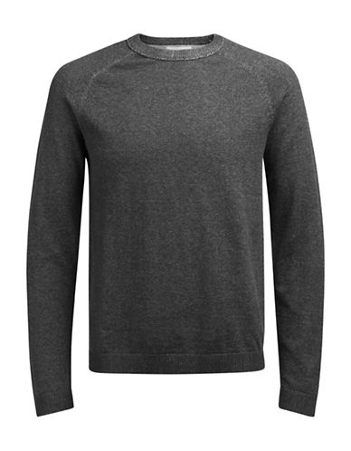 Jack & Jones Long Sleeve Cotton Sweatshirt-GREY-Large 89692503_GREY_Large
