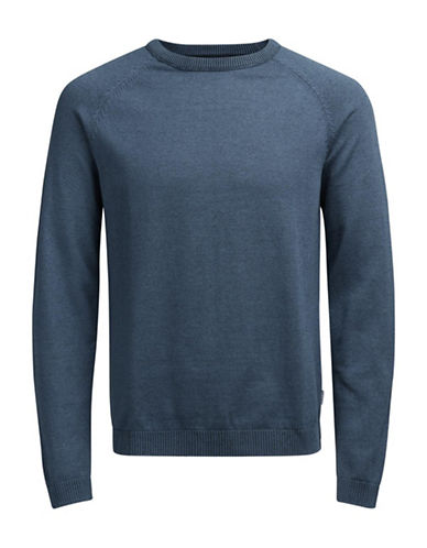 Jack & Jones Long Sleeve Cotton Sweatshirt-MEDIUM BLUE-Large
