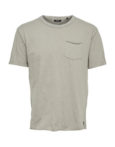 Only And Sons Cool Cotton Tee-BEIGE-Small